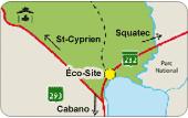 Éco-site - Carte